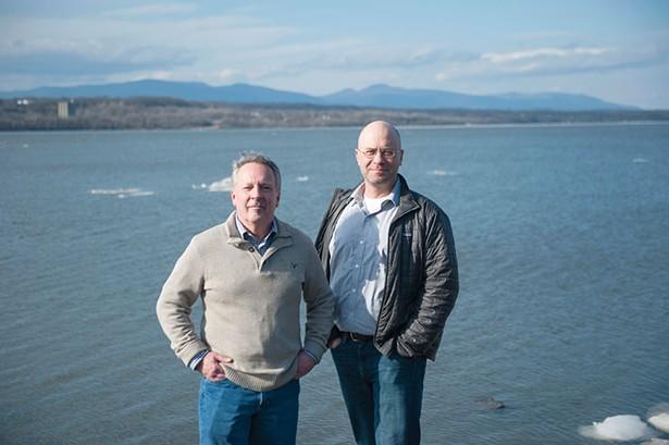 Rhinebeck Mayor Gary Bassett and Riverkeeper's Dan Shapley