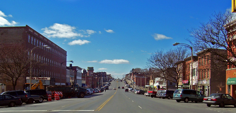 View of Broadway in Newburgh