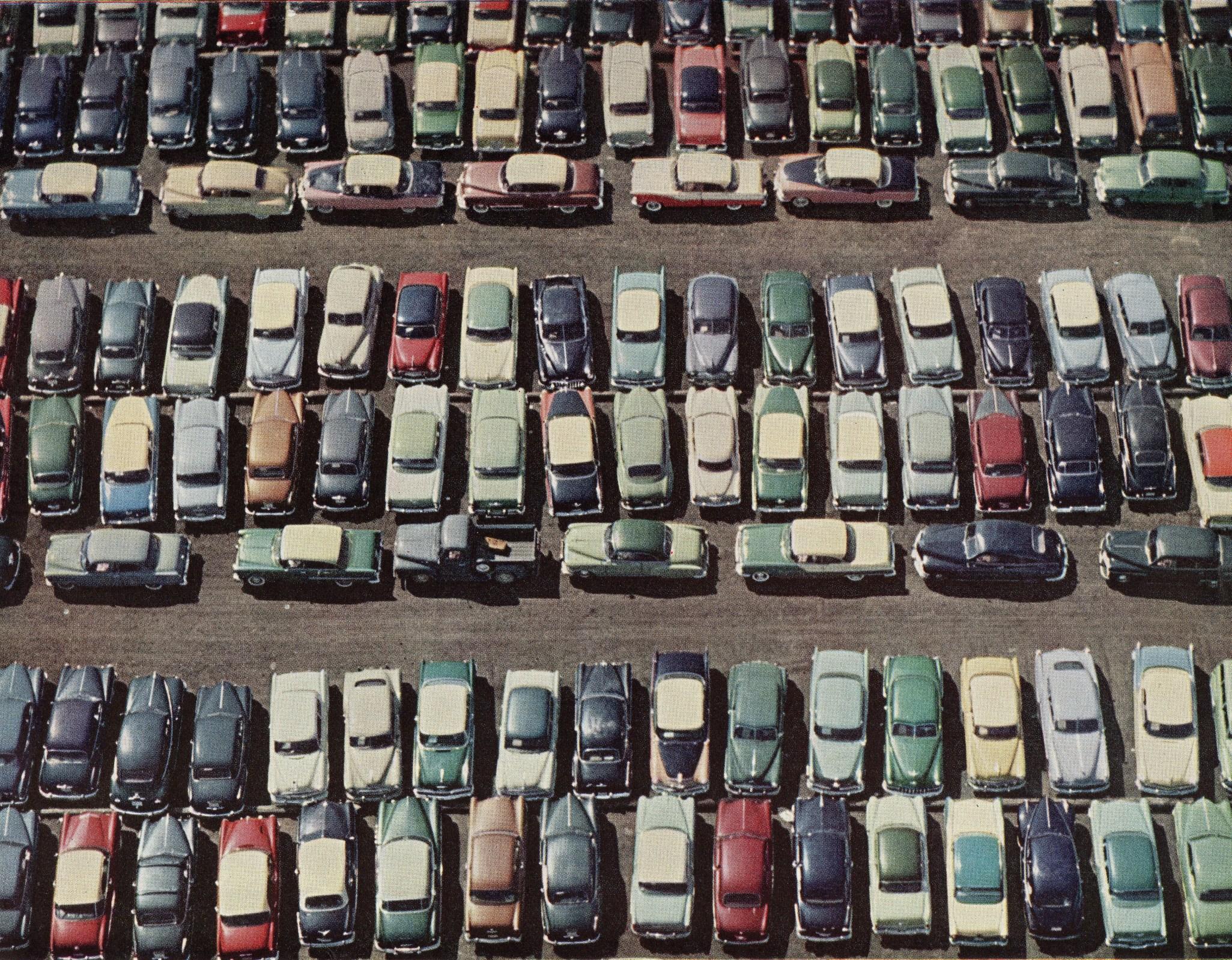 River, parking lot, Hudson valley