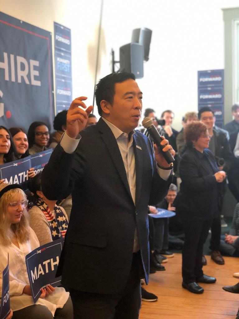 The River Newsroom, Andrew Yang, New Hampshire primary 2020, Yang Gang