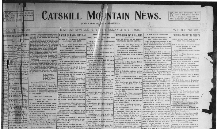 Catskill Mountain News, the River, local journalism