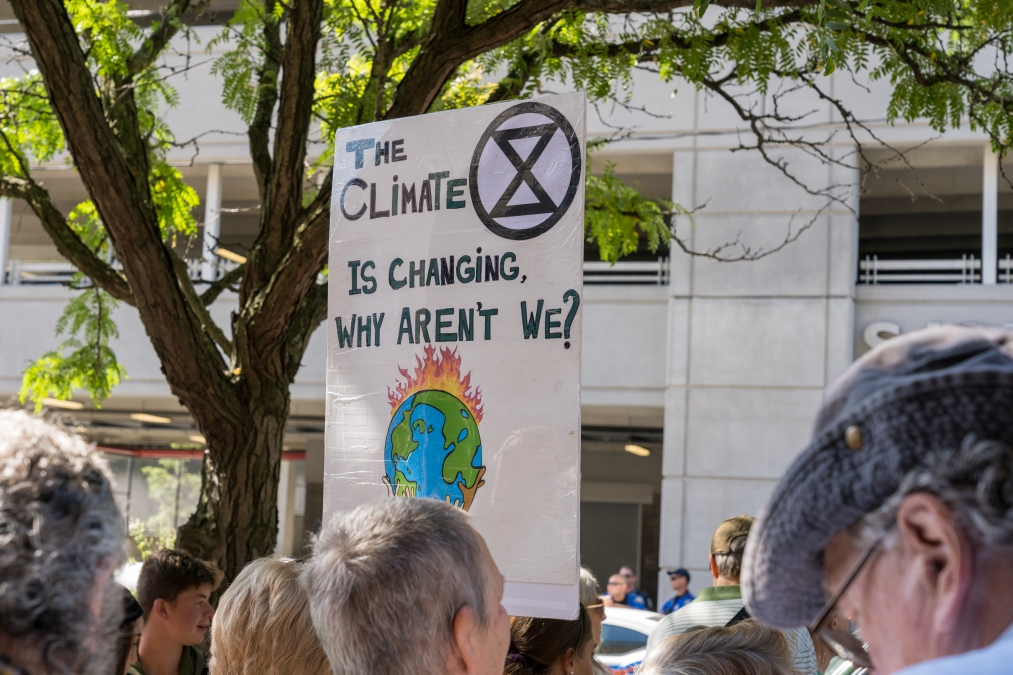 student climate protest