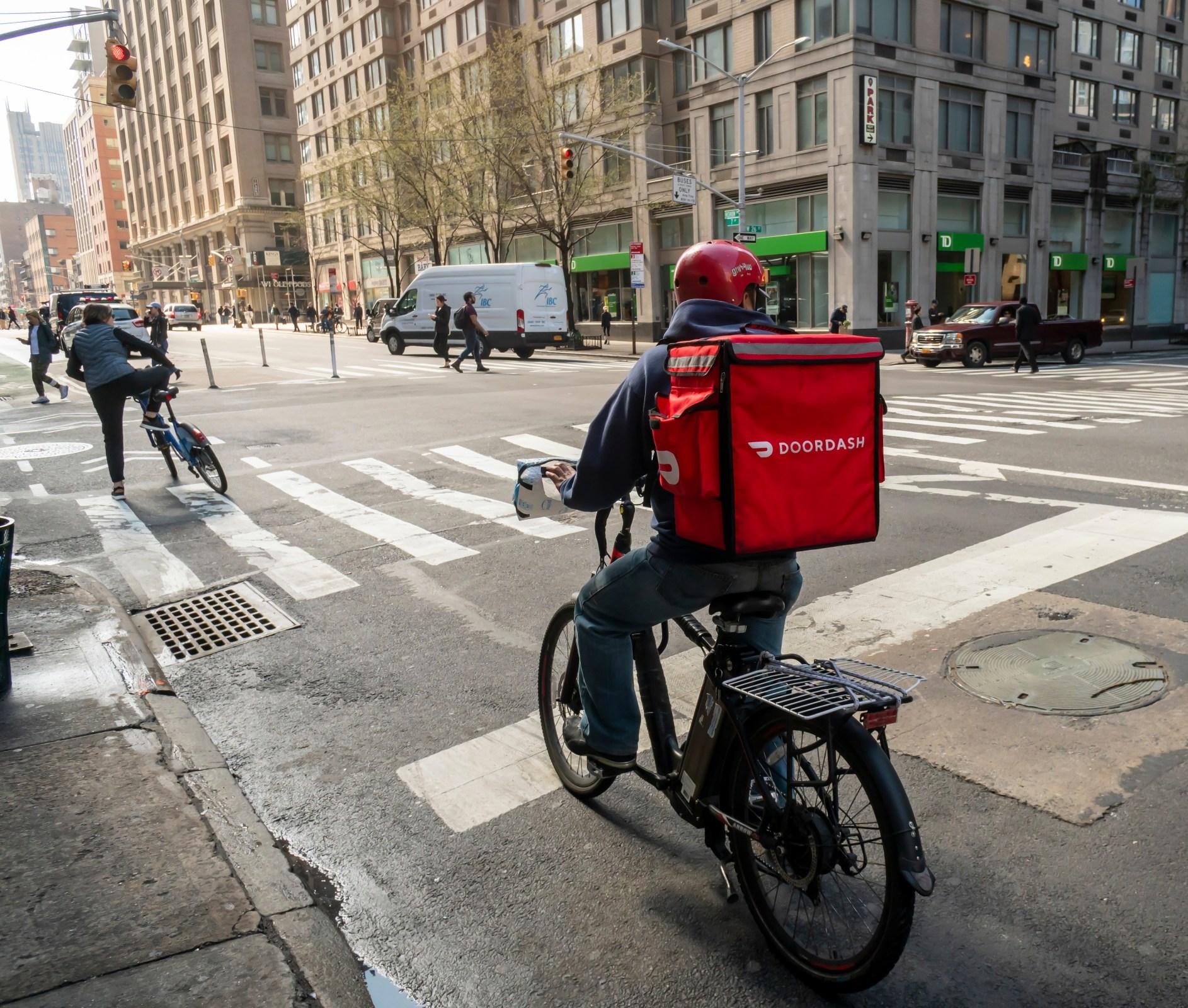 DoorDash worker in New York