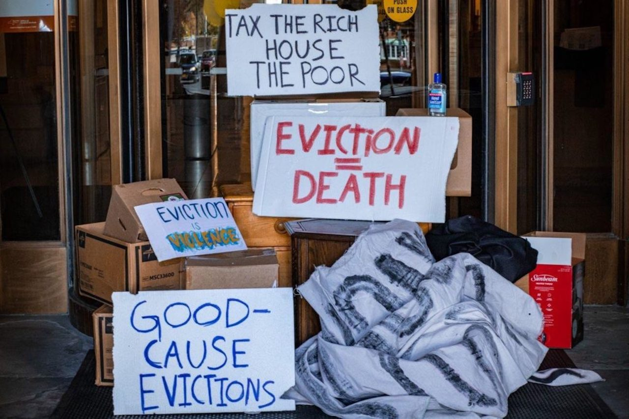 good cause eviction signs